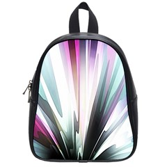 Flower Petals Abstract Background Wallpaper School Bags (Small)