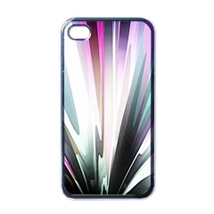 Flower Petals Abstract Background Wallpaper Apple iPhone 4 Case (Black)