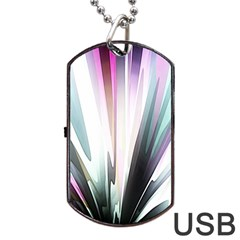 Flower Petals Abstract Background Wallpaper Dog Tag USB Flash (One Side)