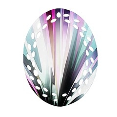 Flower Petals Abstract Background Wallpaper Ornament (Oval Filigree)
