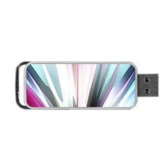 Flower Petals Abstract Background Wallpaper Portable USB Flash (One Side)