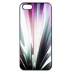 Flower Petals Abstract Background Wallpaper Apple iPhone 5 Seamless Case (Black)