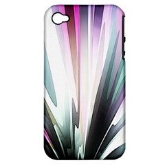 Flower Petals Abstract Background Wallpaper Apple iPhone 4/4S Hardshell Case (PC+Silicone)