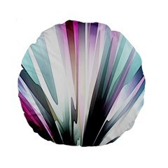 Flower Petals Abstract Background Wallpaper Standard 15  Premium Round Cushions