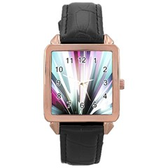 Flower Petals Abstract Background Wallpaper Rose Gold Leather Watch
