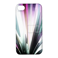 Flower Petals Abstract Background Wallpaper Apple Iphone 4/4s Hardshell Case With Stand