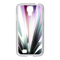 Flower Petals Abstract Background Wallpaper Samsung GALAXY S4 I9500/ I9505 Case (White)