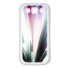 Flower Petals Abstract Background Wallpaper Samsung Galaxy S3 Back Case (White)