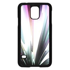 Flower Petals Abstract Background Wallpaper Samsung Galaxy S5 Case (Black)