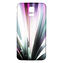 Flower Petals Abstract Background Wallpaper Samsung Galaxy S5 Back Case (White)