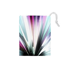 Flower Petals Abstract Background Wallpaper Drawstring Pouches (Small)