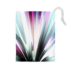 Flower Petals Abstract Background Wallpaper Drawstring Pouches (Large)