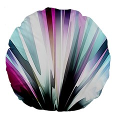 Flower Petals Abstract Background Wallpaper Large 18  Premium Flano Round Cushions