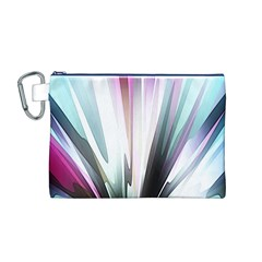 Flower Petals Abstract Background Wallpaper Canvas Cosmetic Bag (m)