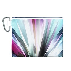 Flower Petals Abstract Background Wallpaper Canvas Cosmetic Bag (L)