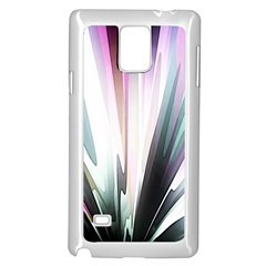 Flower Petals Abstract Background Wallpaper Samsung Galaxy Note 4 Case (white)