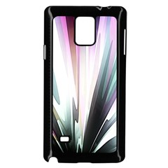 Flower Petals Abstract Background Wallpaper Samsung Galaxy Note 4 Case (Black)