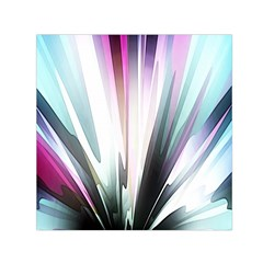 Flower Petals Abstract Background Wallpaper Small Satin Scarf (Square)