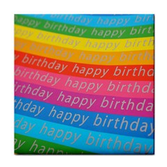 Colorful Happy Birthday Wallpaper Tile Coasters