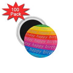 Colorful Happy Birthday Wallpaper 1 75  Magnets (100 Pack)
