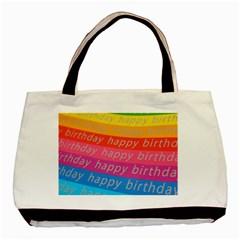 Colorful Happy Birthday Wallpaper Basic Tote Bag