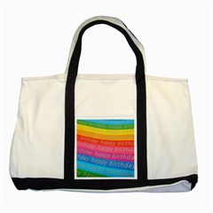 Colorful Happy Birthday Wallpaper Two Tone Tote Bag