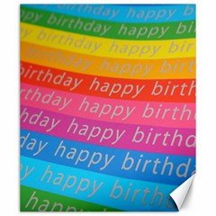Colorful Happy Birthday Wallpaper Canvas 20  X 24