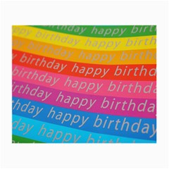 Colorful Happy Birthday Wallpaper Small Glasses Cloth (2 Side)