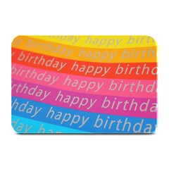 Colorful Happy Birthday Wallpaper Plate Mats