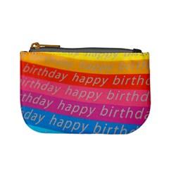 Colorful Happy Birthday Wallpaper Mini Coin Purses