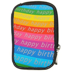 Colorful Happy Birthday Wallpaper Compact Camera Cases