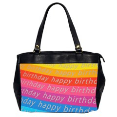 Colorful Happy Birthday Wallpaper Office Handbags (2 Sides)