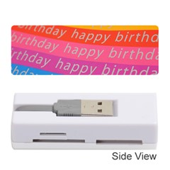 Colorful Happy Birthday Wallpaper Memory Card Reader (stick)
