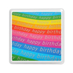 Colorful Happy Birthday Wallpaper Memory Card Reader (square)