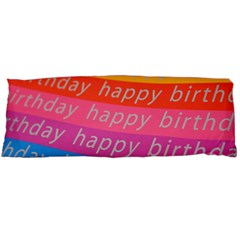 Colorful Happy Birthday Wallpaper Body Pillow Case Dakimakura (two Sides)