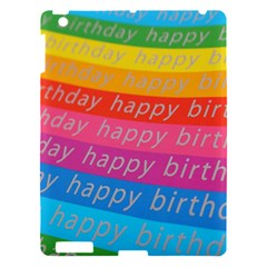 Colorful Happy Birthday Wallpaper Apple iPad 3/4 Hardshell Case