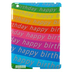 Colorful Happy Birthday Wallpaper Apple Ipad 3/4 Hardshell Case (compatible With Smart Cover)