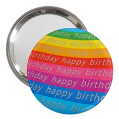 Colorful Happy Birthday Wallpaper 3  Handbag Mirrors