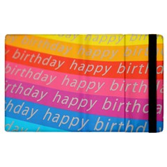 Colorful Happy Birthday Wallpaper Apple Ipad 2 Flip Case