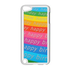 Colorful Happy Birthday Wallpaper Apple iPod Touch 5 Case (White)