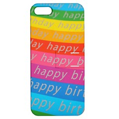 Colorful Happy Birthday Wallpaper Apple Iphone 5 Hardshell Case With Stand