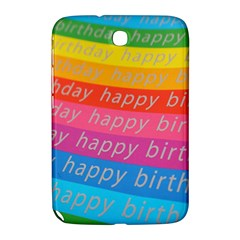 Colorful Happy Birthday Wallpaper Samsung Galaxy Note 8 0 N5100 Hardshell Case