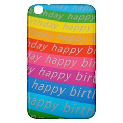 Colorful Happy Birthday Wallpaper Samsung Galaxy Tab 3 (8 ) T3100 Hardshell Case