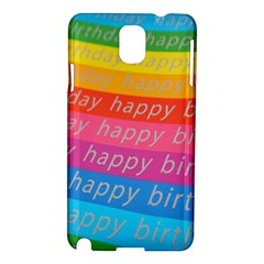 Colorful Happy Birthday Wallpaper Samsung Galaxy Note 3 N9005 Hardshell Case