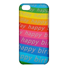 Colorful Happy Birthday Wallpaper Apple iPhone 5C Hardshell Case