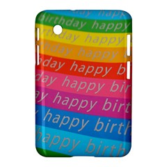 Colorful Happy Birthday Wallpaper Samsung Galaxy Tab 2 (7 ) P3100 Hardshell Case