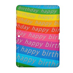 Colorful Happy Birthday Wallpaper Samsung Galaxy Tab 2 (10.1 ) P5100 Hardshell Case