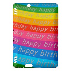 Colorful Happy Birthday Wallpaper Kindle Fire HDX Hardshell Case
