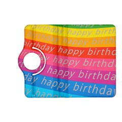 Colorful Happy Birthday Wallpaper Kindle Fire HD (2013) Flip 360 Case