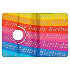 Colorful Happy Birthday Wallpaper Kindle Fire HDX Flip 360 Case